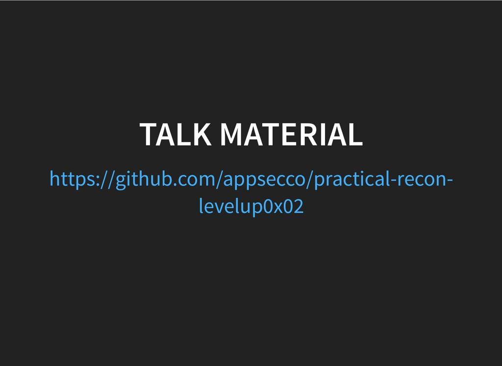 TALK MATERIAL TALK MATERIAL https://github.com/...