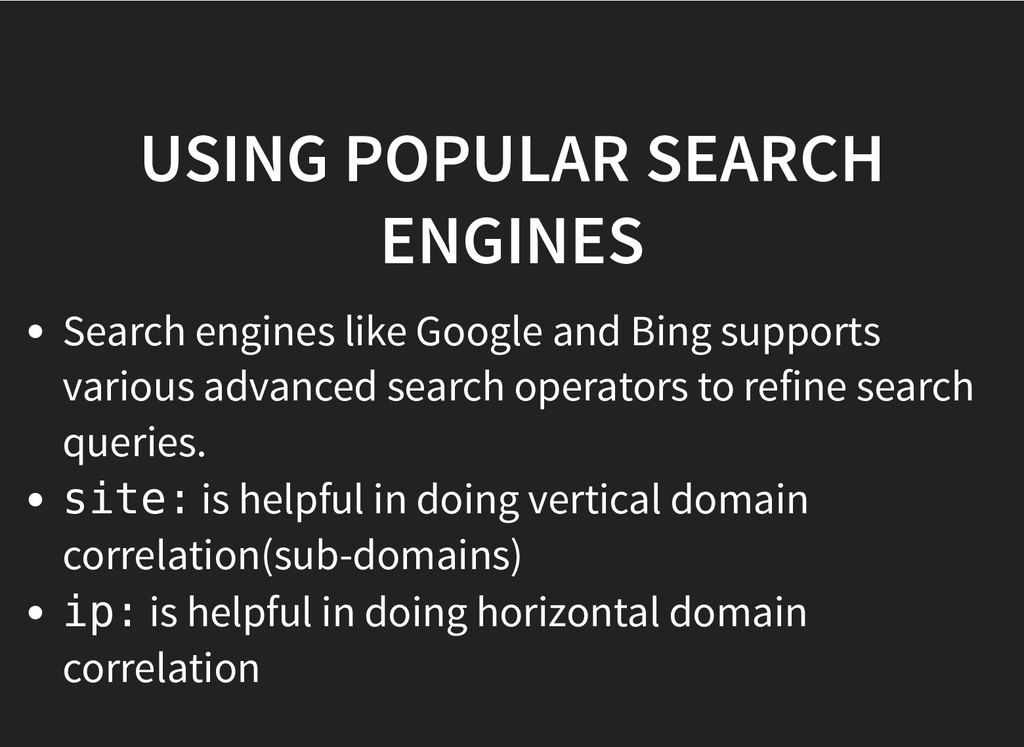 USING POPULAR SEARCH USING POPULAR SEARCH ENGIN...