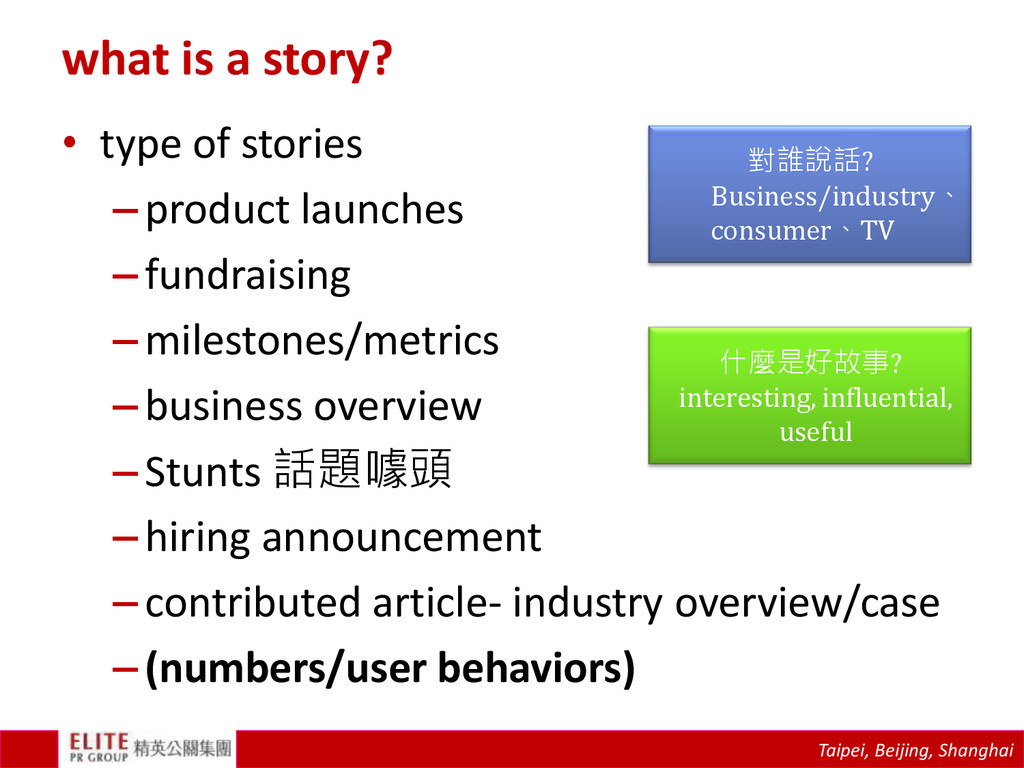 Taipei, Beijing, Shanghai what is a story? • ty...