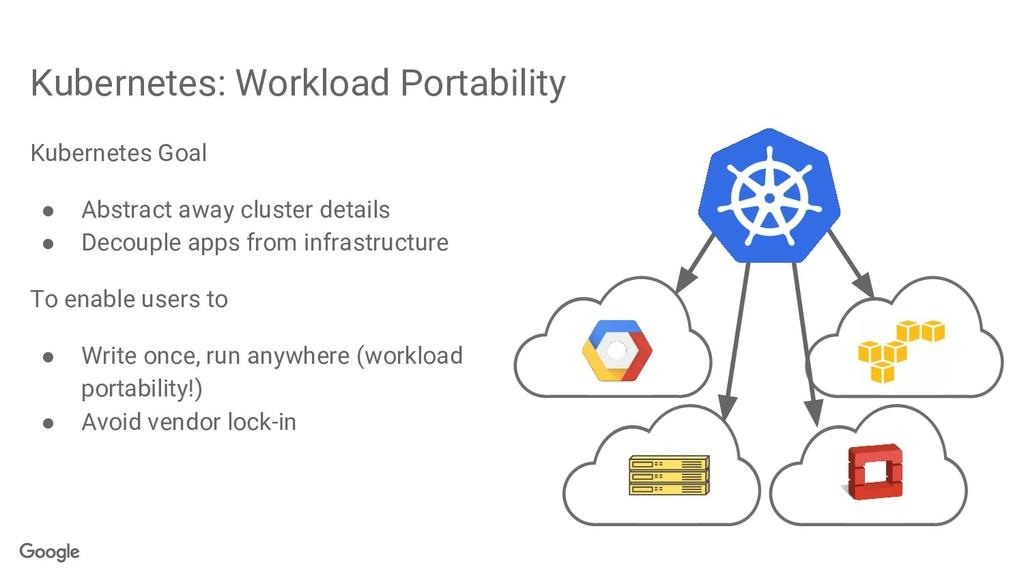 Kubernetes: Workload Portability Kubernetes Goa...