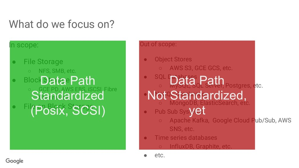 What do we focus on? Out of scope: ● Object Sto...