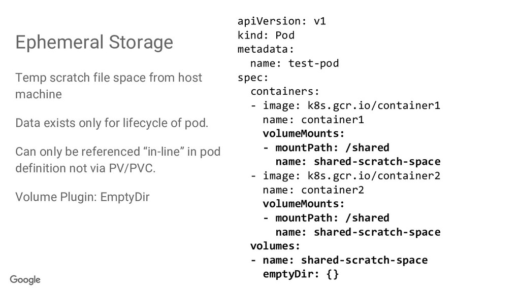 Temp scratch file space from host machine Data ...