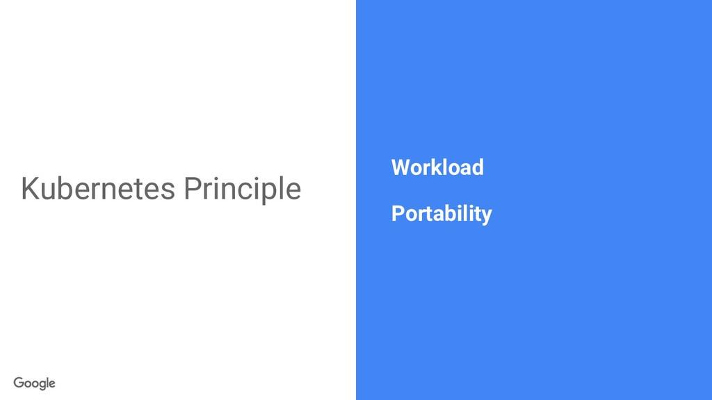 Kubernetes Principle Workload Portability