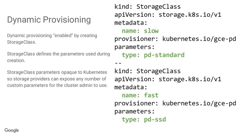 "Dynamic Provisioning Dynamic provisioning ""enab..."