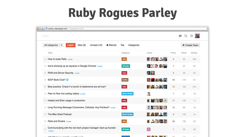 Ruby Rogues Parley