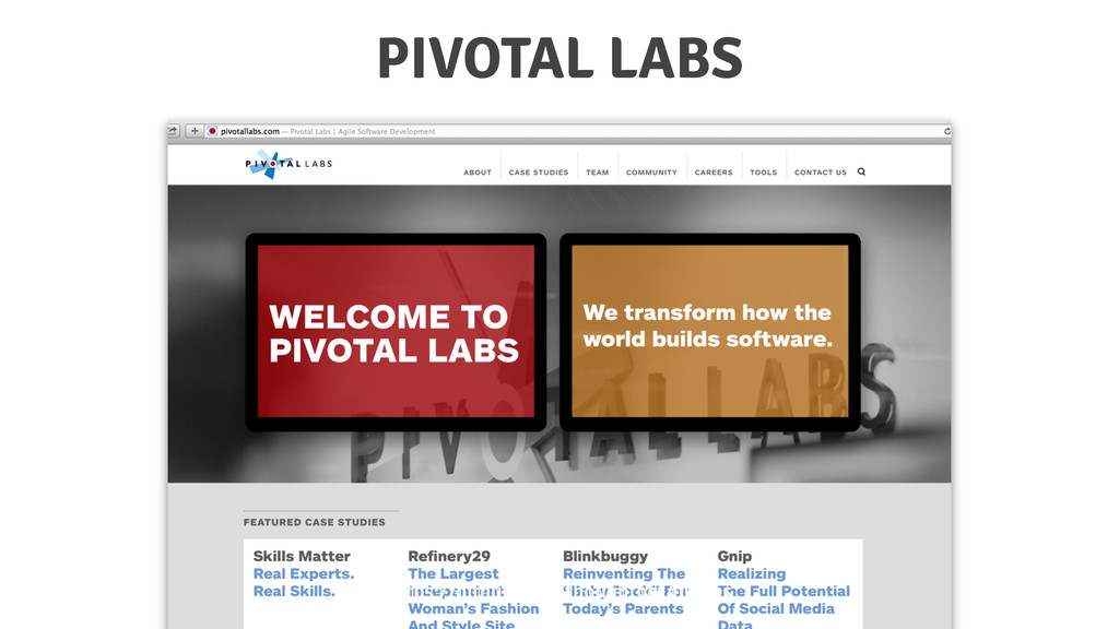 PIVOTAL LABS https://github.com/thoughtbot/guid...