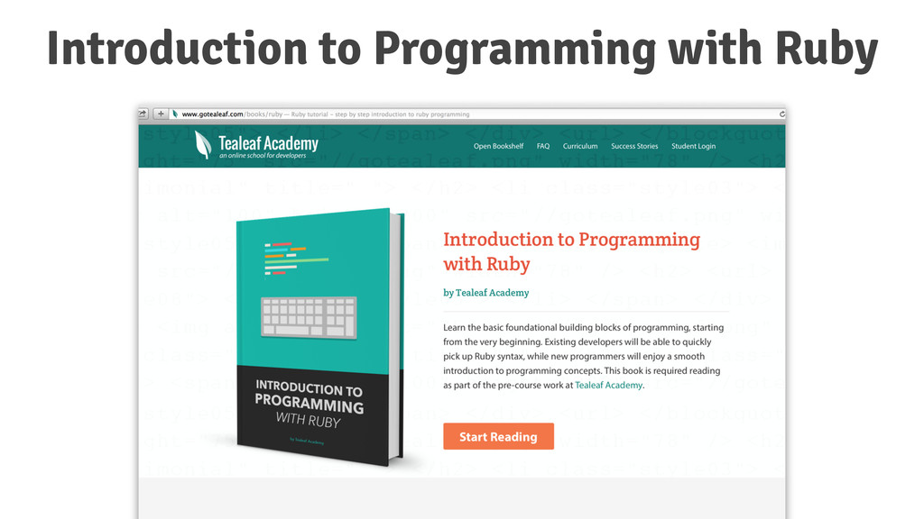 Introduction to Programming with Ruby
