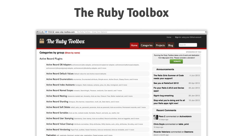 The Ruby Toolbox