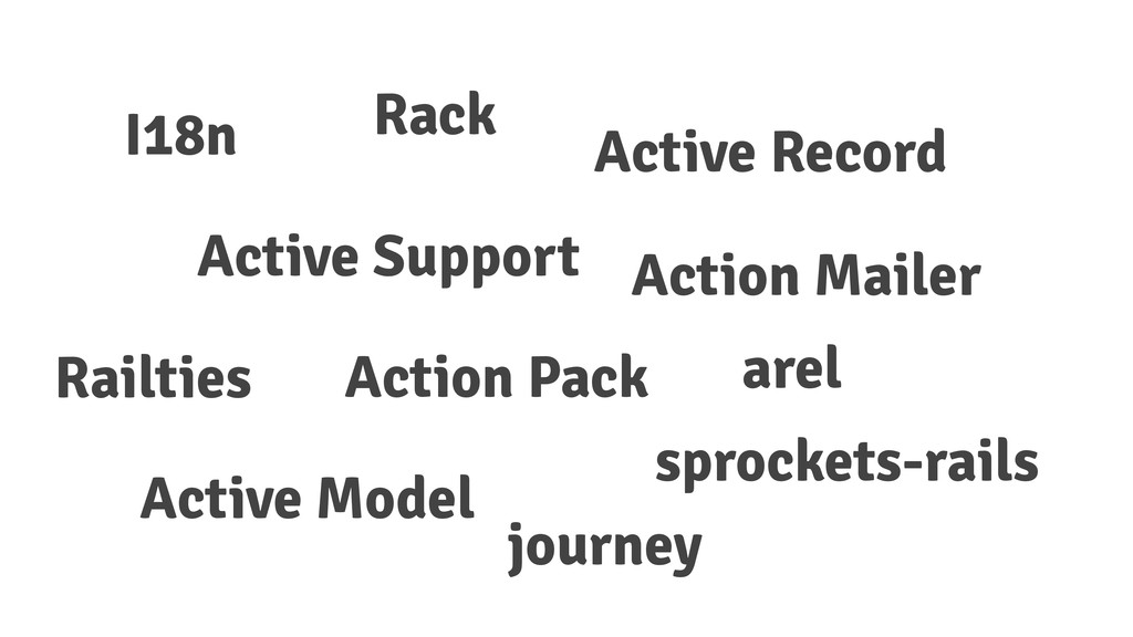 I18n Action Mailer Action Pack Rack Active Reco...