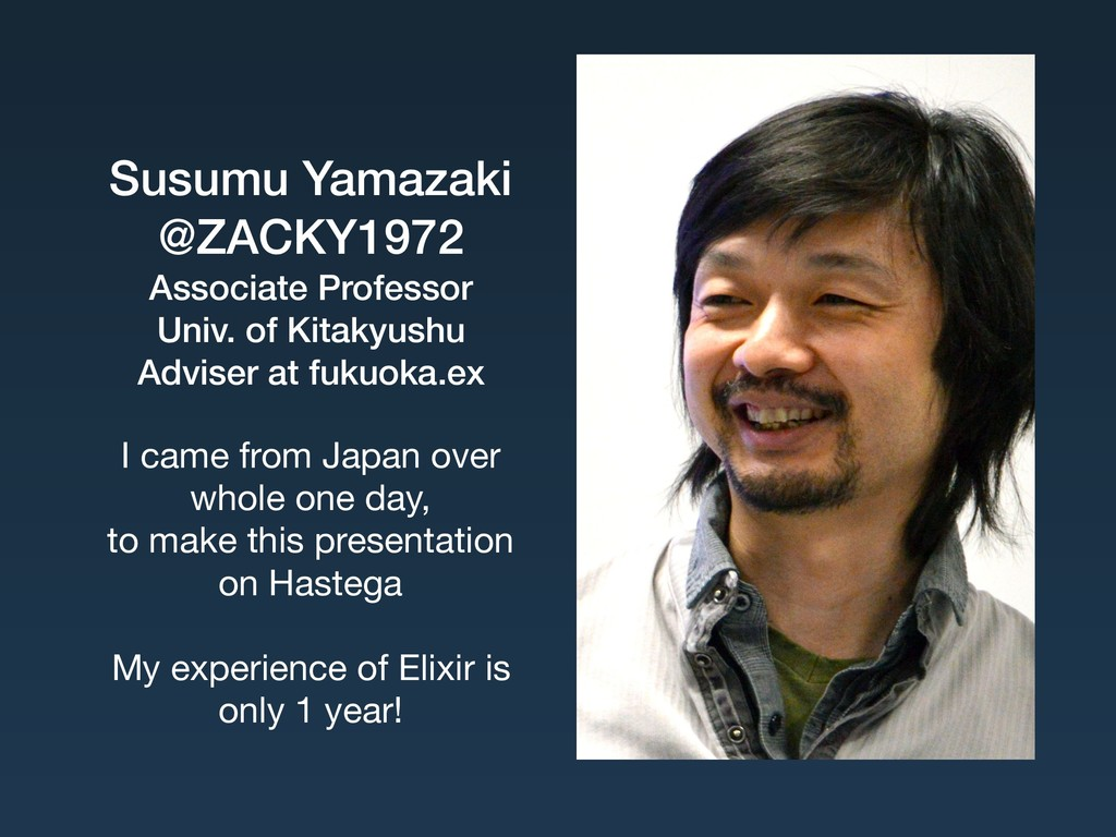 Susumu Yamazaki @ZACKY1972 Associate Professor...