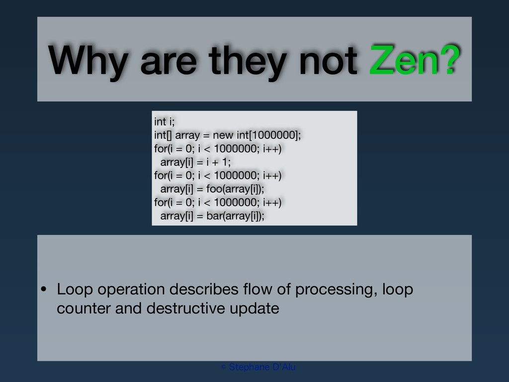 """Why are they not Zen? ˜4UFQIBOF%""""MV • Loop o..."""