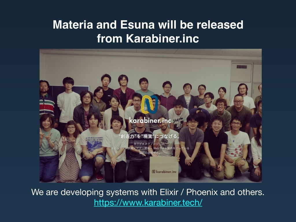 Materia and Esuna will be released from Karabi...