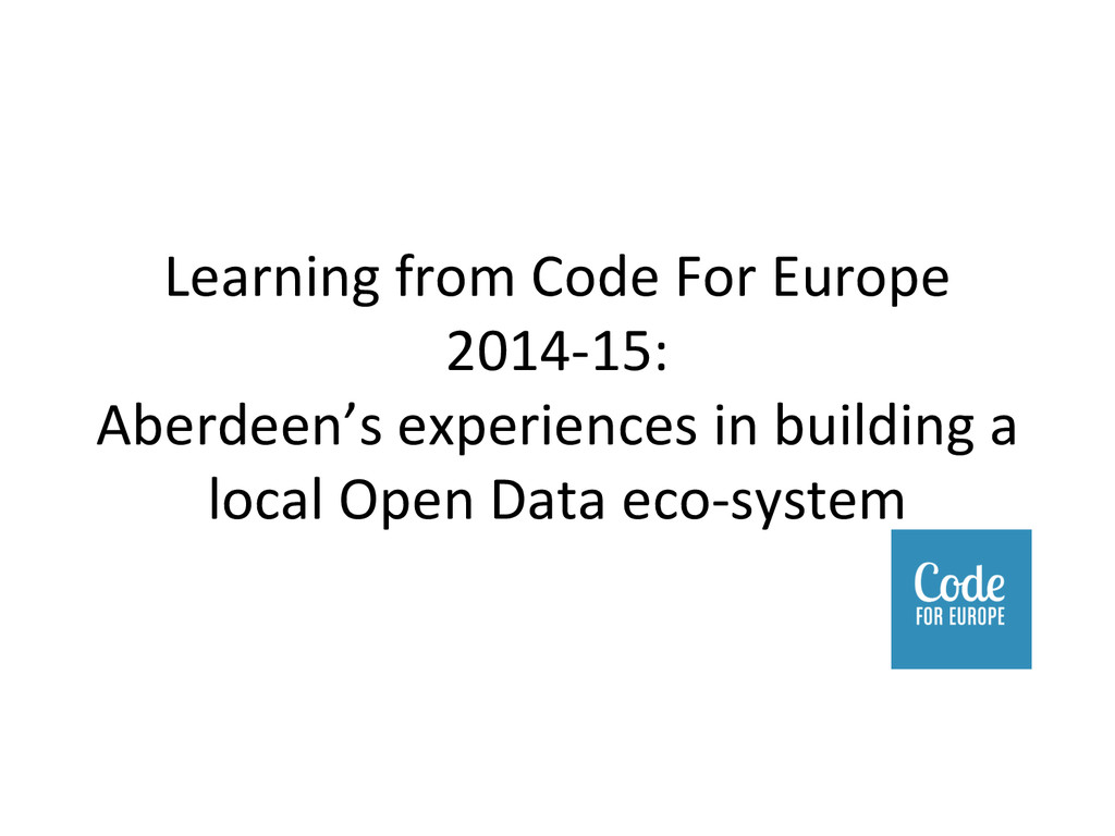 Learning from Code For Europe  2...