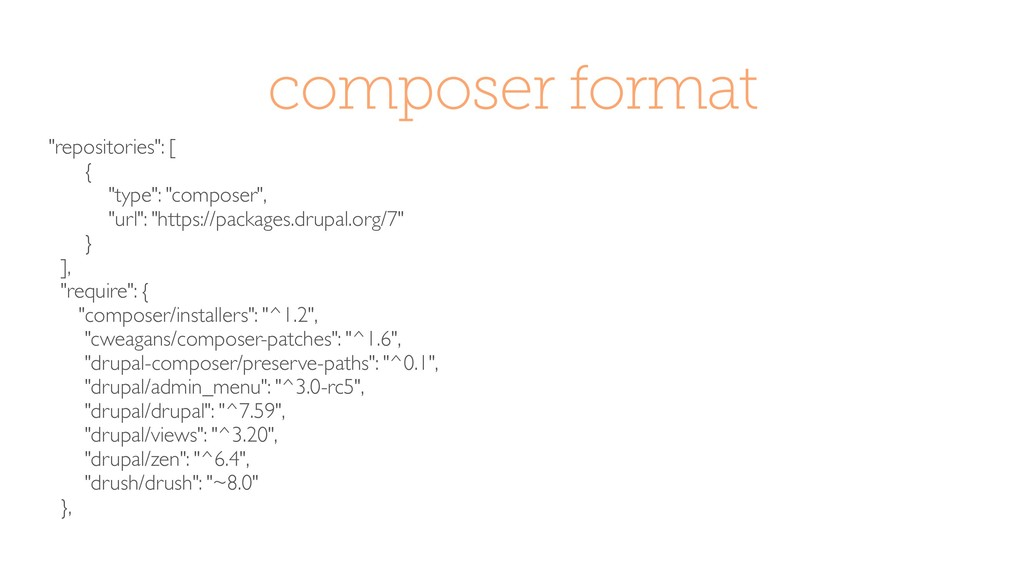 """composer format """"repositories"""": [ { """"type"""": """"co..."""