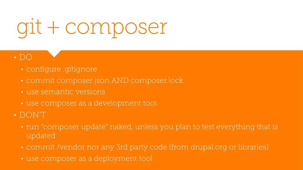 git + composer • DO • configure .gitignore • com...