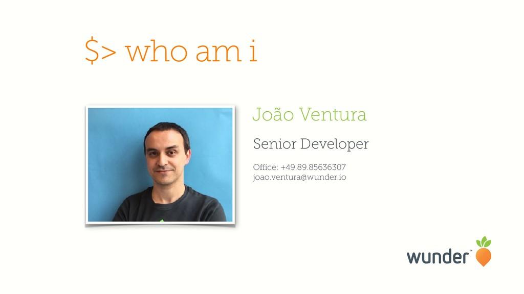 Senior Developer Office: +49.89.85636307 joao.ven...
