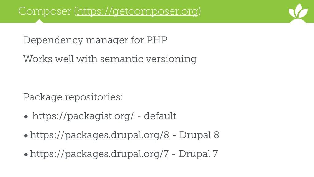 Composer (https://getcomposer.org) Dependency m...