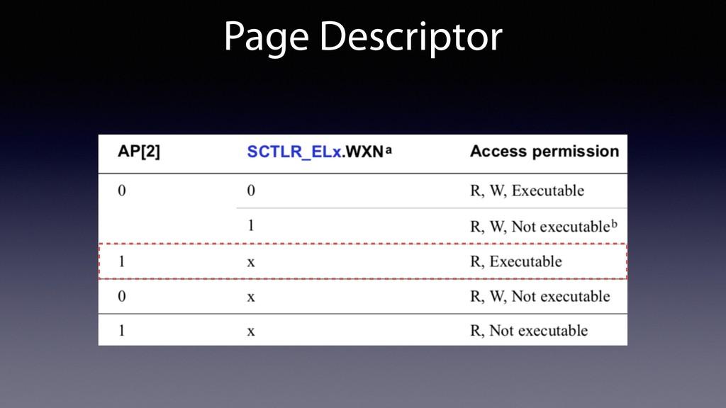 Page Descriptor