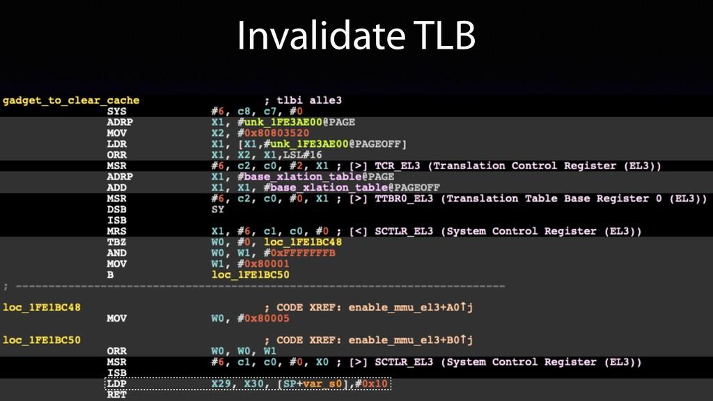 Invalidate TLB