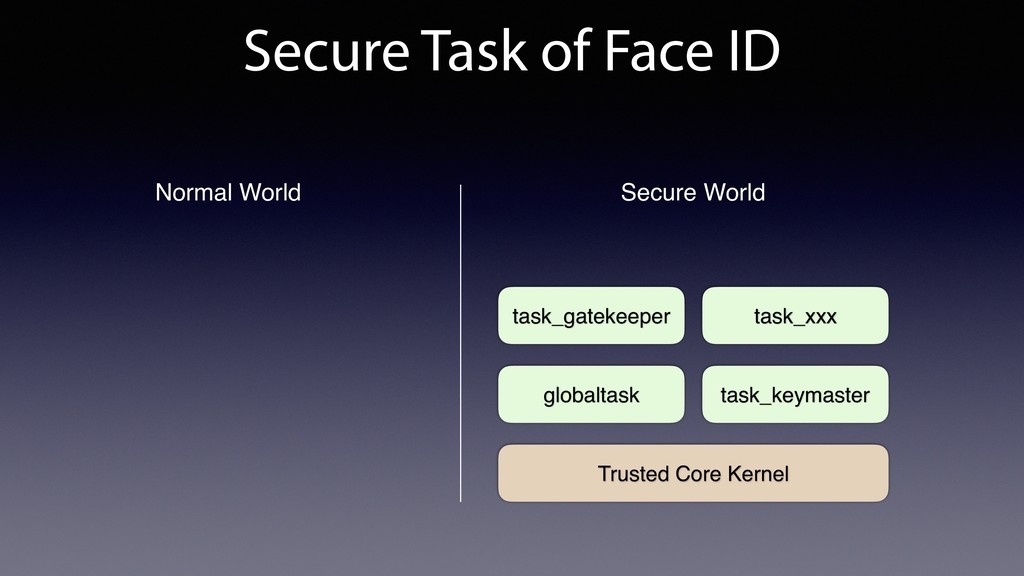 Secure Task of Face ID Trusted Core Kernel glob...