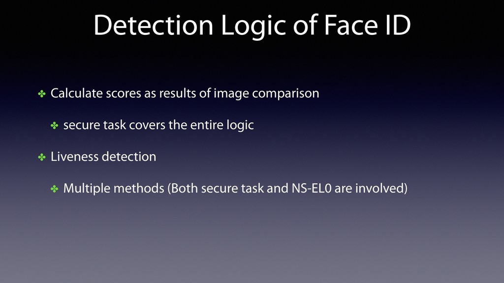 Detection Logic of Face ID ✤ Calculate scores a...