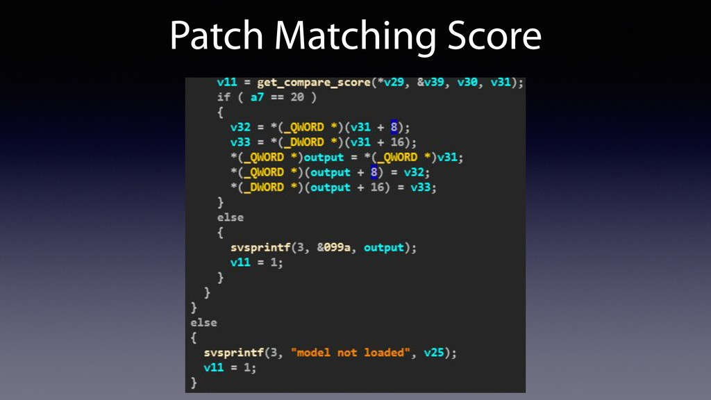 Patch Matching Score