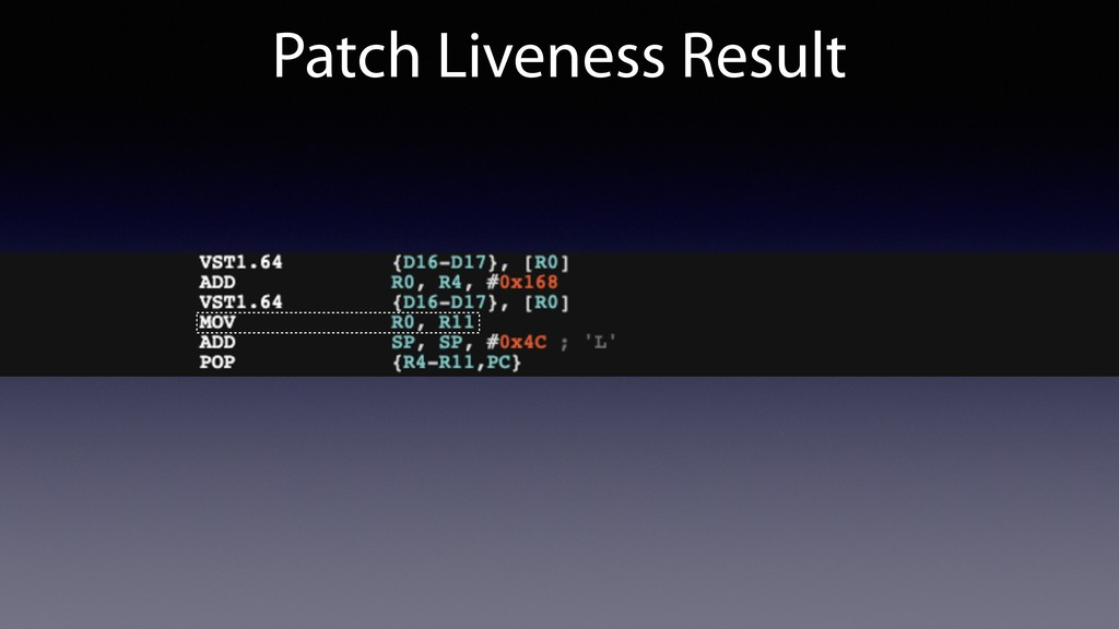 Patch Liveness Result