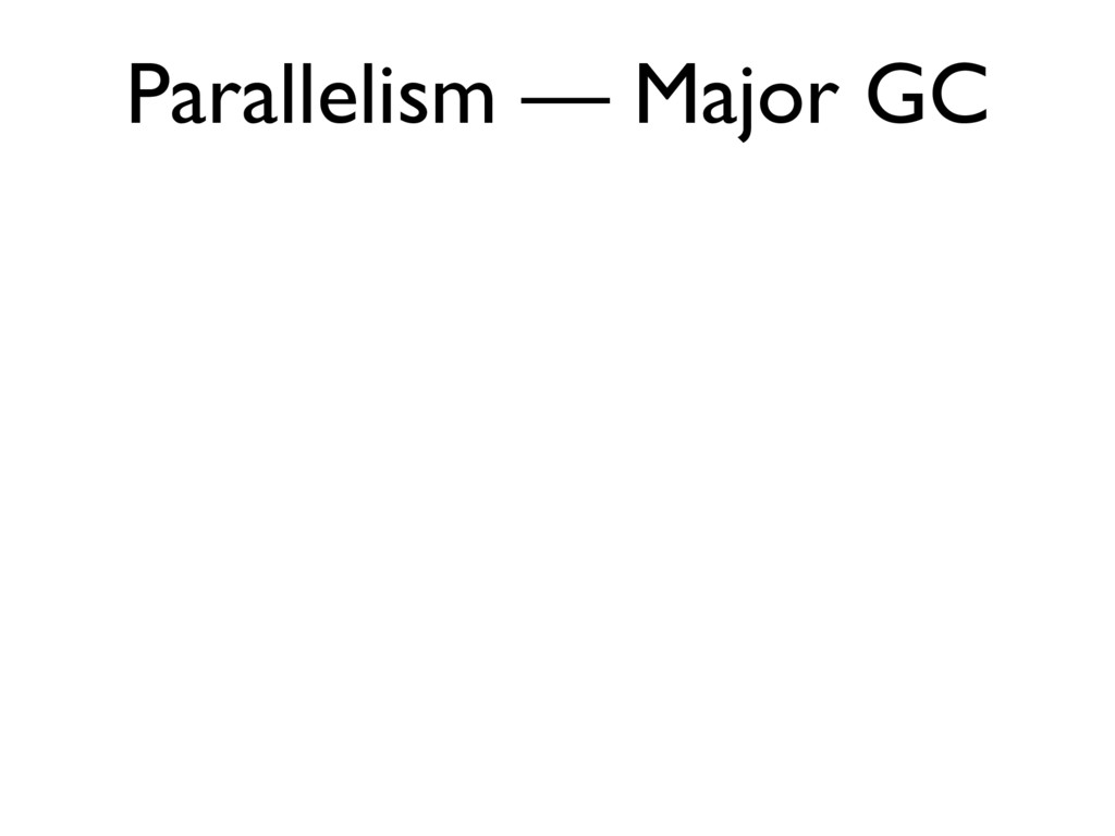 Parallelism — Major GC