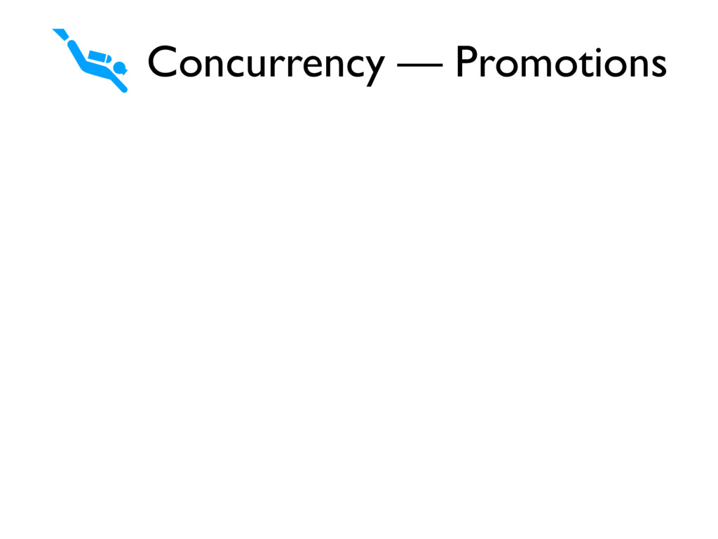Concurrency — Promotions