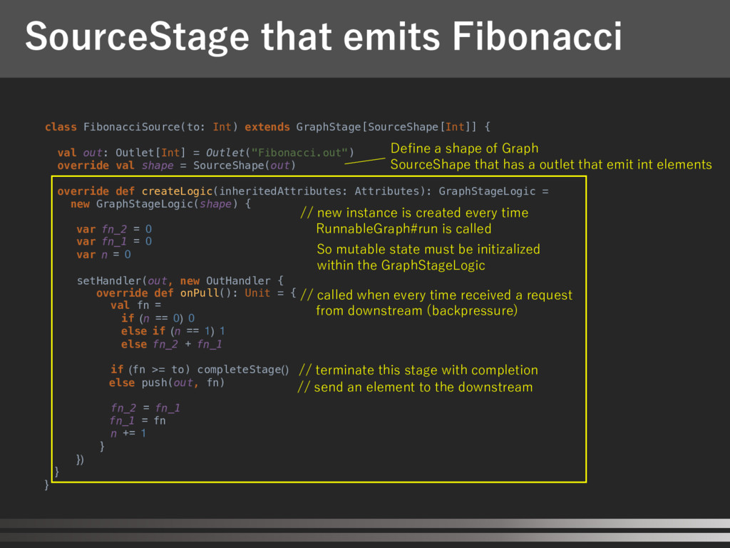 SourceStage that emits Fibonacci class Fibonacc...
