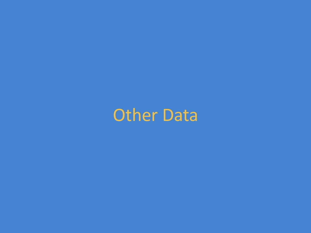Other Data