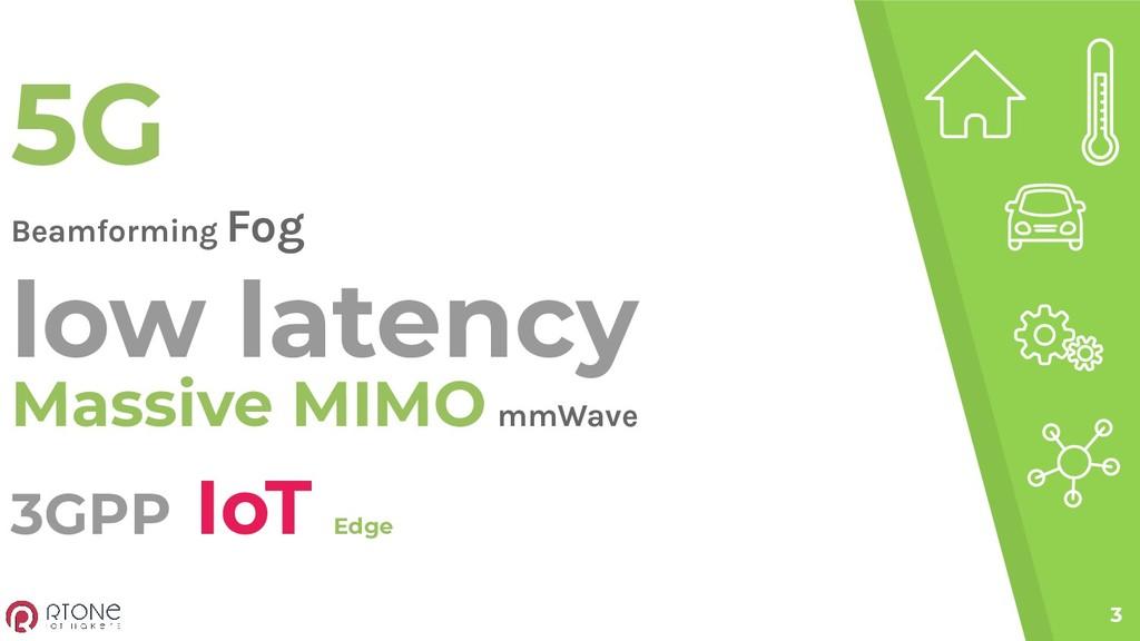 3GPP IoT Edge 3 5G Beamforming Fog low latency ...