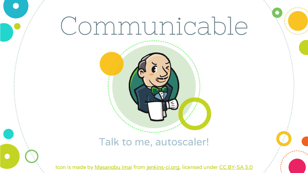 Communicable Talk to me, autoscaler! Icon is ma...
