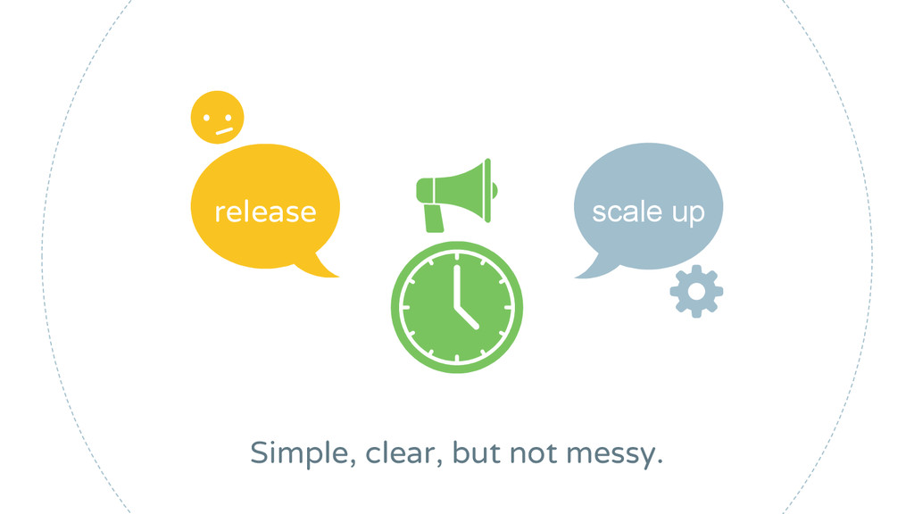 release scale up Simple, clear, but not messy.