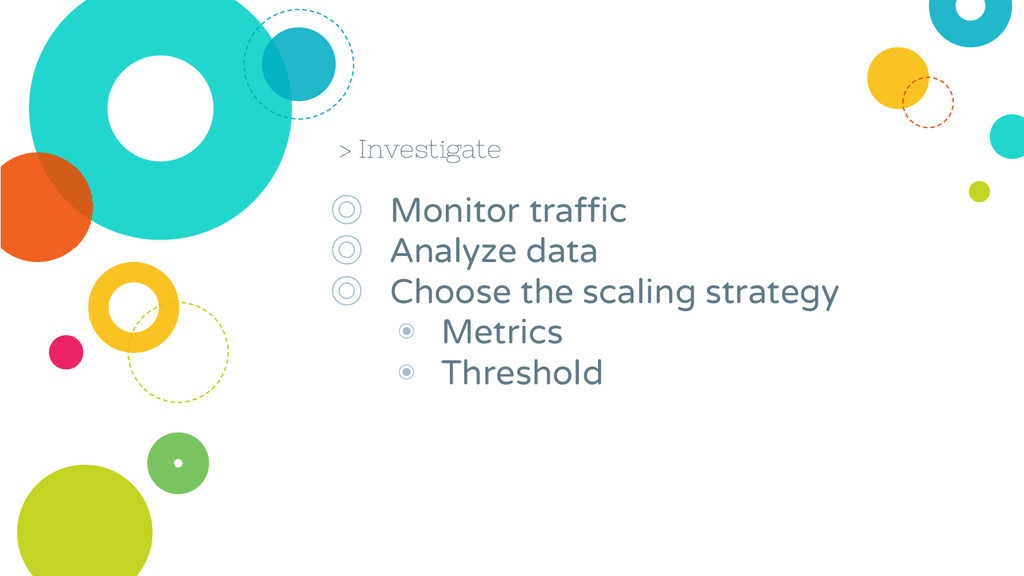 > Investigate ◎ Monitor traffic ◎ Analyze data ...