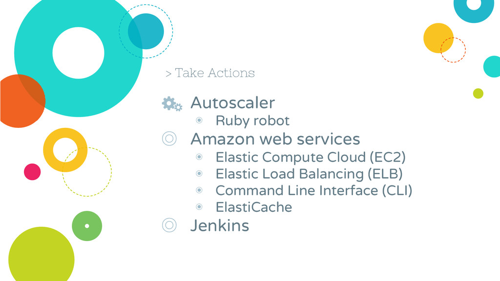 > Take Actions ◎ Autoscaler ◉ Ruby robot ◎ Amaz...