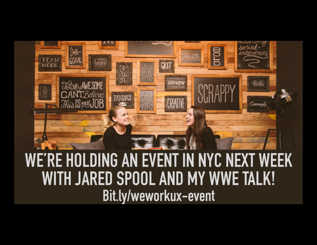 WE'RE HOLDING AN EVENT IN NYC NEXT WEEK WITH JA...