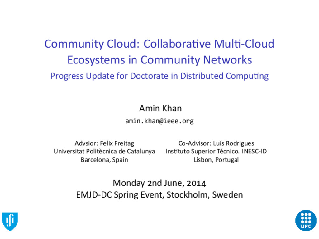Community Cloud: Collabora ve Mul -Cloud Ecosys...