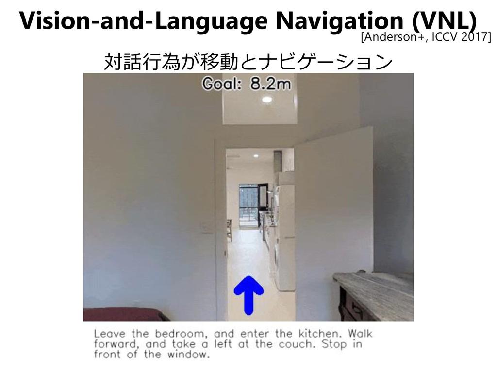 Vision-and-Language Navigation (VNL) 対話行為が移動とナビ...