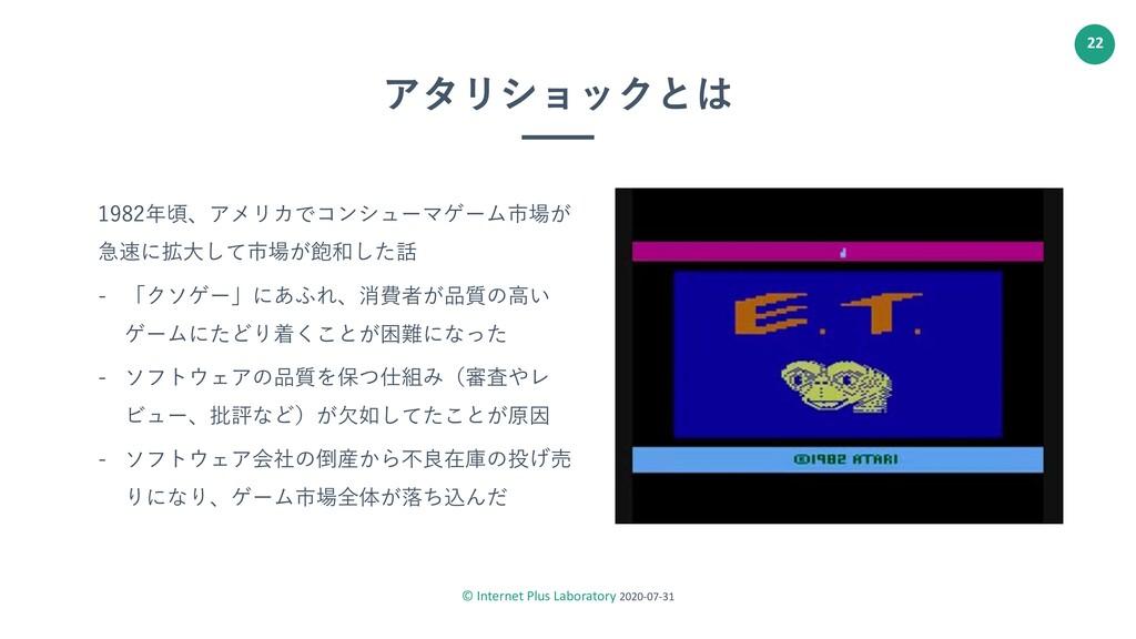 © Internet Plus Laboratory 2020-07-31 22 アタリショッ...