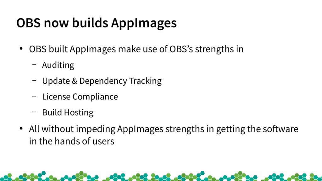 OBS now builds AppImages ● OBS built AppImages ...