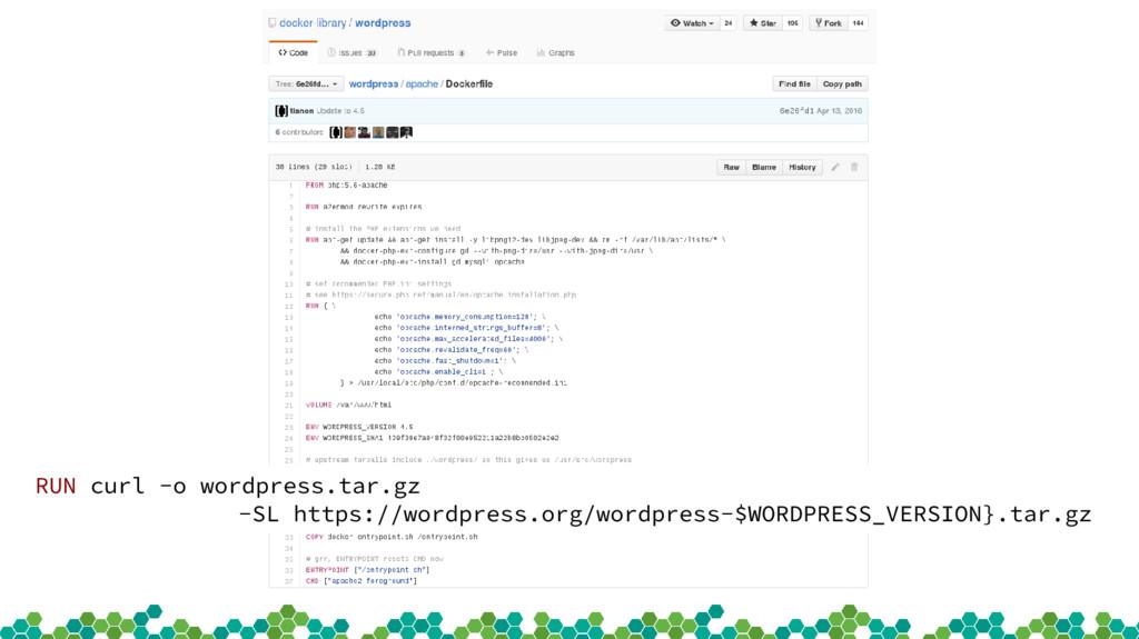 RUN curl -o wordpress.tar.gz -SL https://wordpr...