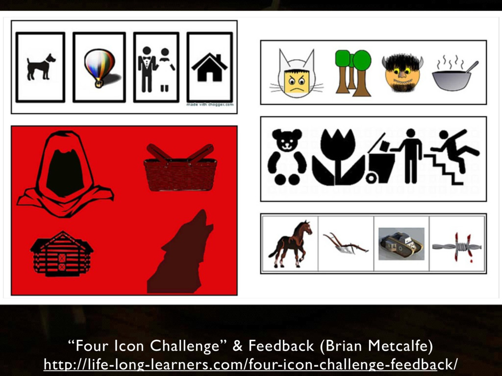 """Four Icon Challenge"" & Feedback (Brian Metcalf..."