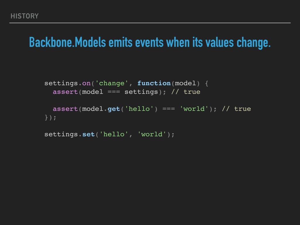 HISTORY Backbone.Models emits events when its v...