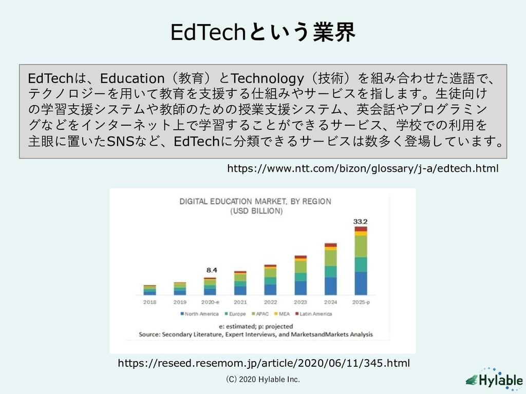 EdTechという業界 https://www.ntt.com/bizon/glossary/...