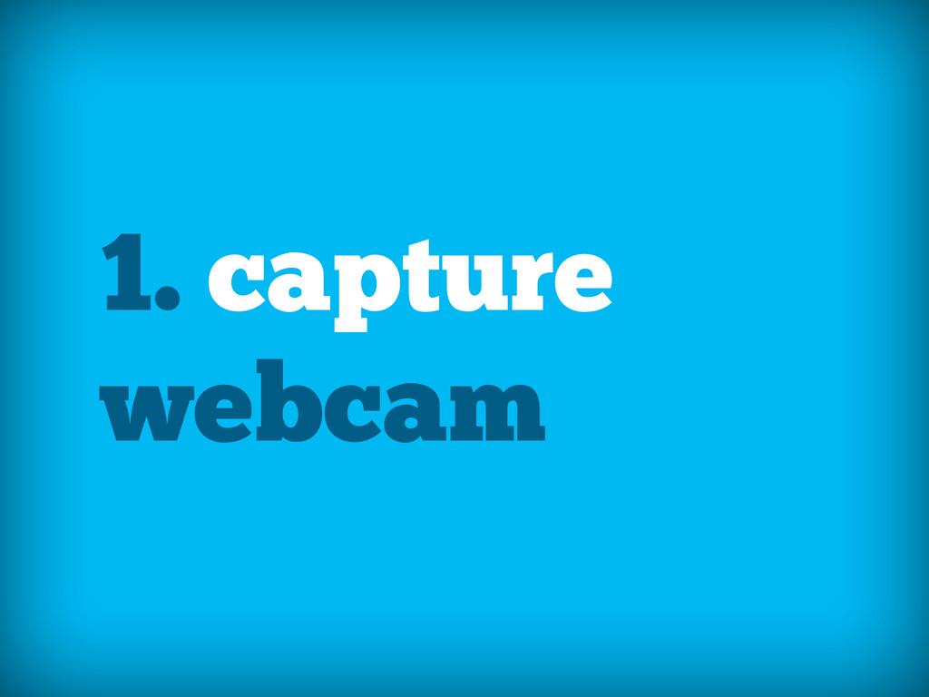 1. capture webcam