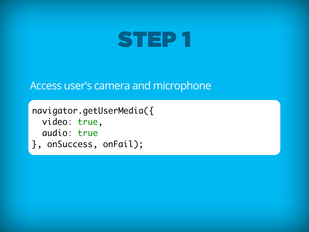 Access user's camera and microphone navigator.g...