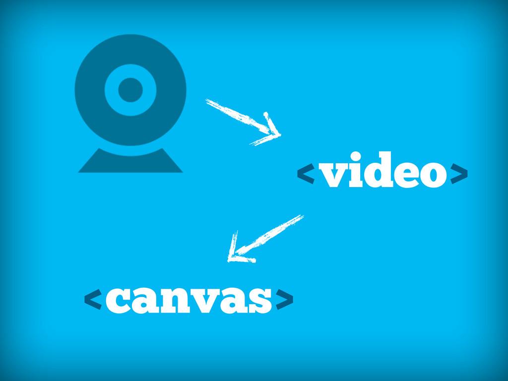 <video> <canvas>