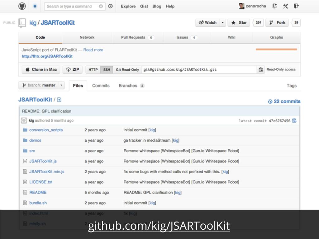 github.com/kig/JSARToolKit