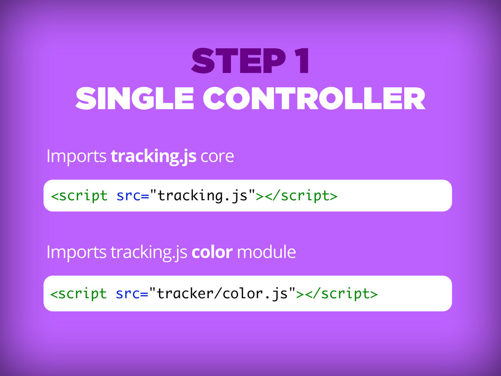 Imports tracking.js core Imports tracking.js co...